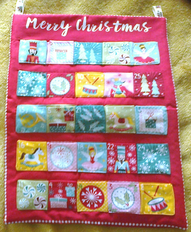 Fabric ADVENT CALENDAR The Nutcracker Advent Calendar