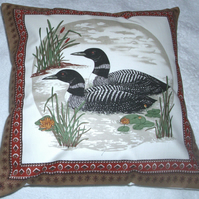Loons on a lonesome lake cushion