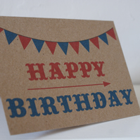 Circus Style Happy Birthday Card