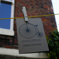 Penny Farthing Birthday Card (Remix)