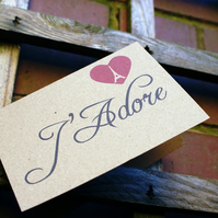 J'Adore Valentine's Day or Anniversary or Wedding Card