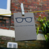 Spec-tacular Hipster Birthday Card