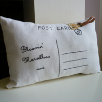 A Bloomin' Marvellous Postcard Cushion