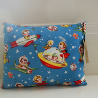 Retro Rockets Mini Space Cushion