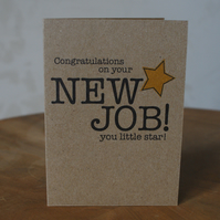 Congratulations New Job Card You Star