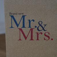 Brand New Mr and Mrs. Wedding Card