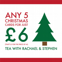 Any 5 Christmas Cards for just 6GBP