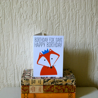 Birthday Fox Birthday Card