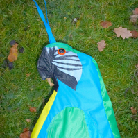 Parrot ( blue and gold Macaw) Windsock