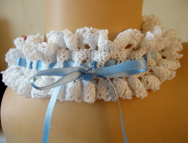 Hand Crochet Vintage Lace Wedding Garter