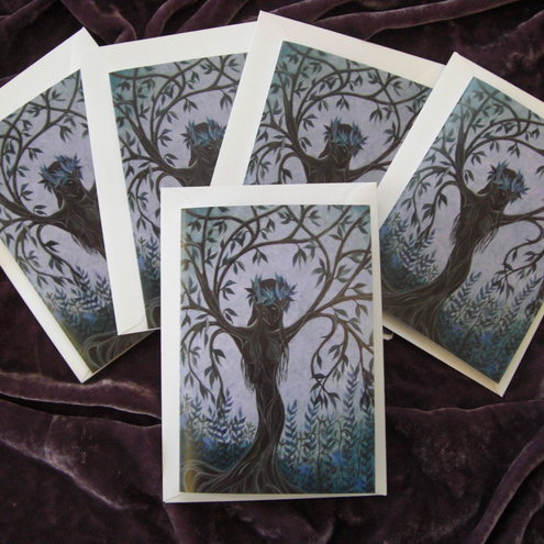 Willow Dryad. Pack of 5 Greetings Cards
