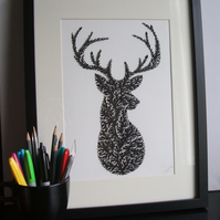 Mr Stag A4 Giclee Print
