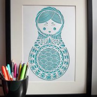 The Little Russian Lady A4 Giclee Print