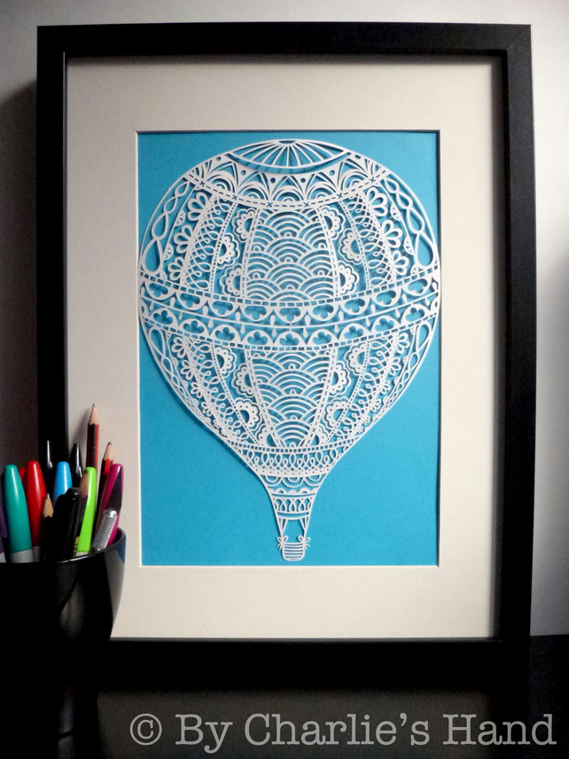 Hot Air Balloon A3 Giclee Print
