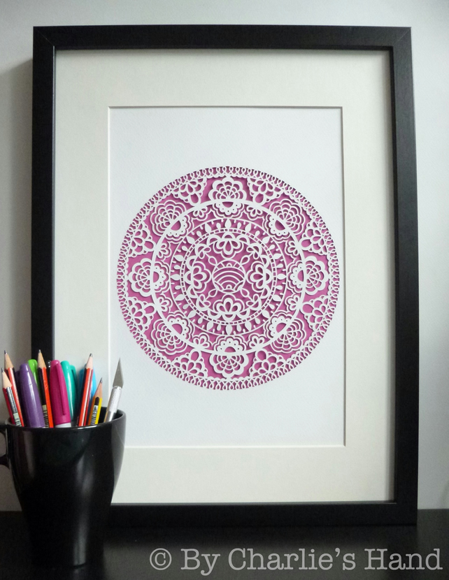 Lace Doily A3 Giclee Print