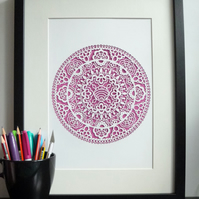 Lace Doily A4 Giclee Print