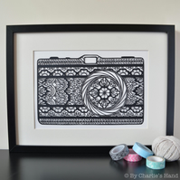 Lace Camera A4 Giclee Print