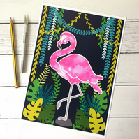 Doris the Flamingo A4 Giclee Print