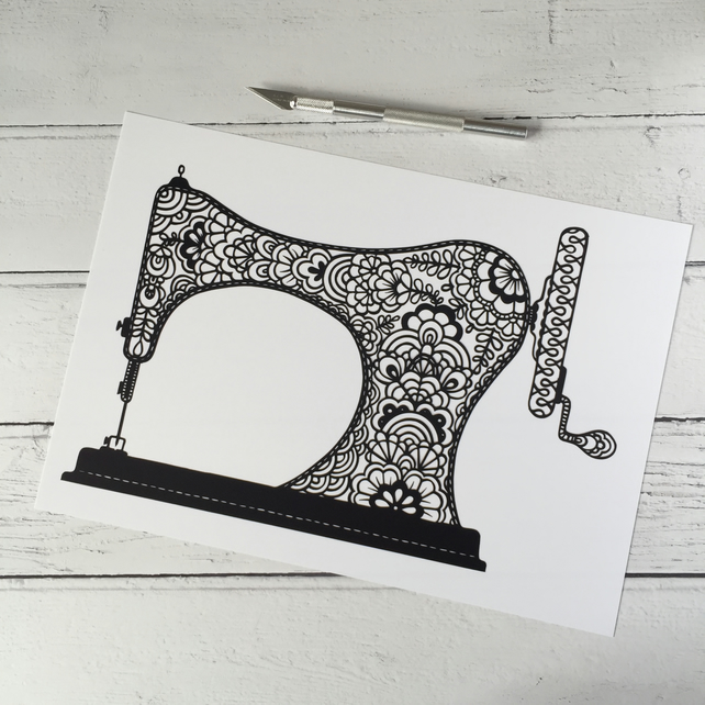 The Lace Singer A4 Giclee Print