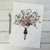Rainbow Bloom Limited Edition A4 Giclee Print