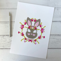 Betty the Bunny A4 Giclee Print