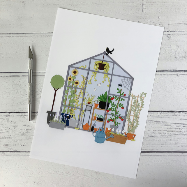 Mam's Greenhouse A4 Giclee Print