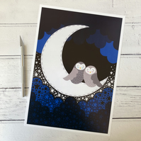 Night Owls A4 Giclee Print