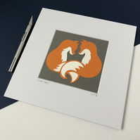 Love Foxes Small Original Papercut