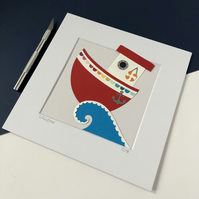 Little Boat Original Papercut