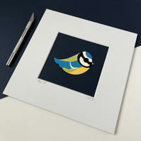 Blue Tit Original Papercut