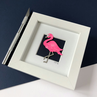 Mini Doris the Flamingo Papercut