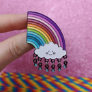 PREORDER Happy Rainbow Cloud Enamel Pin