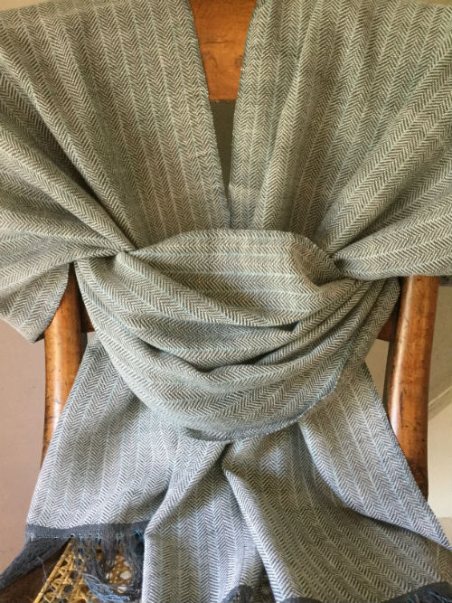 Vapour Trail Hand Woven Cotton Wrap Scarf
