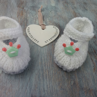 Handknitted unisex baby shoes booties ,crown , princess ,prince