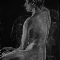 White pastel and charcoal life drawing 2