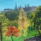 "Edinburgh Autumn painting 10""x12"""