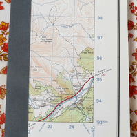 Aberdeenshire Recycled A6 Vintage Map Notebook