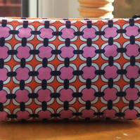 Make Up Bag in Bold Retro Style Print