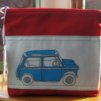 Wash Bag - Make Up Bag featuring  'Retro Mini Car'