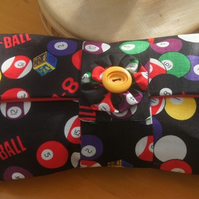 Pool Ball Print Clutch Bag