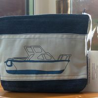 Blue Boat Denim Wash Bag - Make up bag
