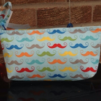 Brightly Coloured Taches Make Up Bag