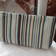 Blue Striped Wash Bag