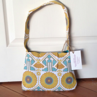 Handbag - Yellow and Turqoise Sunflower Print