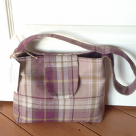 Handbag - Purple and Lime Check