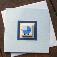 New Baby Card, Baby Boy Card, Baby Girl Card, Magnet Card, Blue, Pink, Yellow
