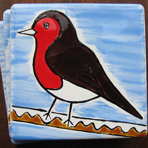 SALE Robin Christmas Coaster WAS £3.00 NOW £2.00