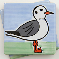 SALE, Seagull Coaster, Ceramic Coaster, Placemats, Homewares, Birds