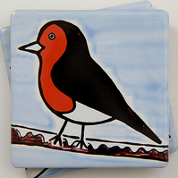 SALE, Robin Coaster, Ceramic Coaster, Placemats, Homewares, Birds