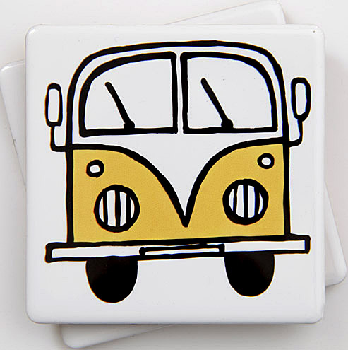 Yellow Campervan Coaster